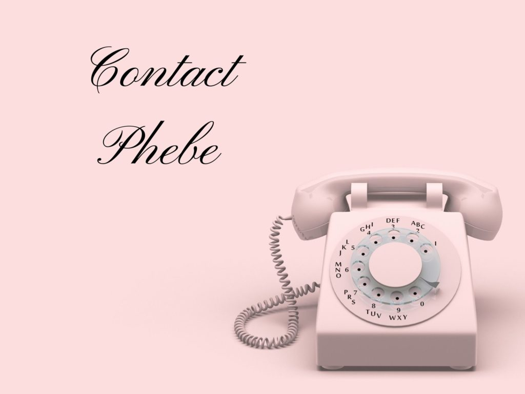 Website Banner for Contact Phebe on the Phebe Phillips Website